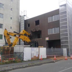 日本通運苫小牧ビル解体工事